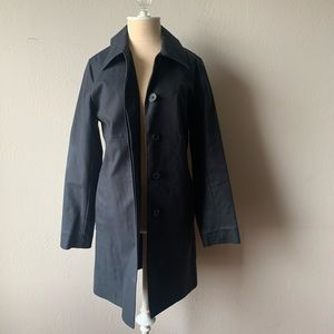 Coach Navy Blur Trench Coat